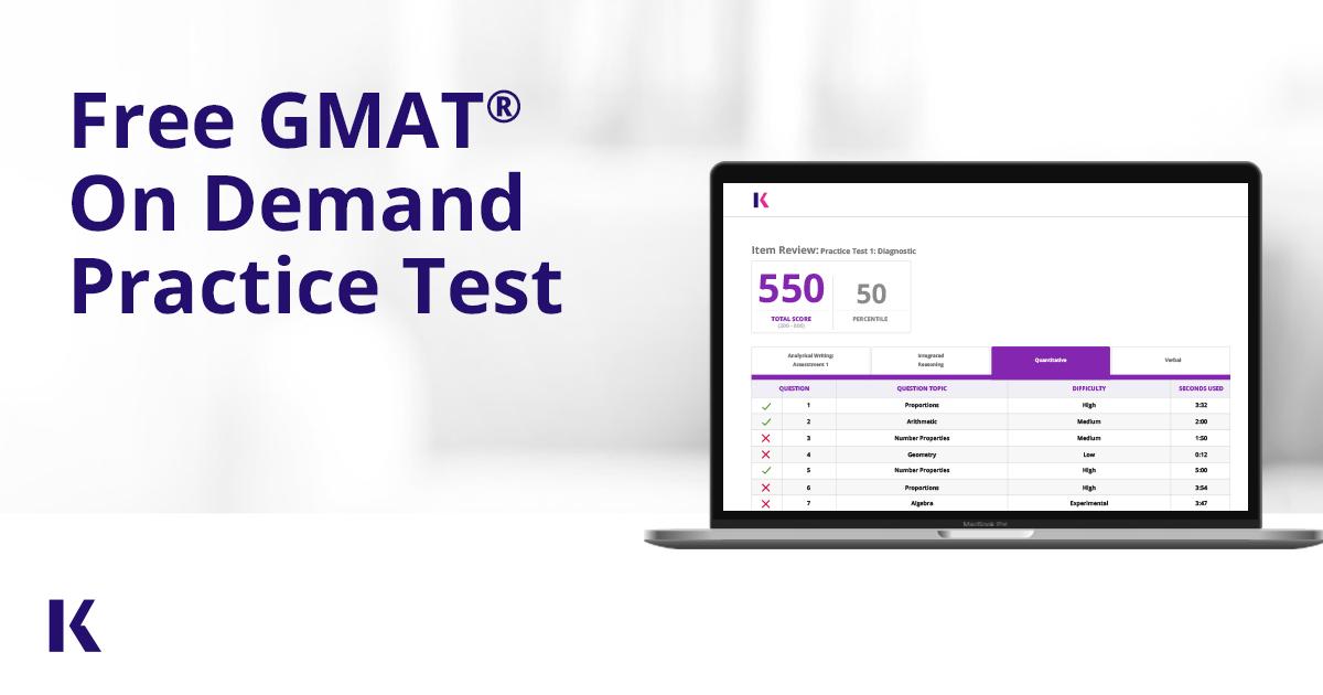 Online Free GMAT Practice Test - Full Length | Kaplan Test Prep