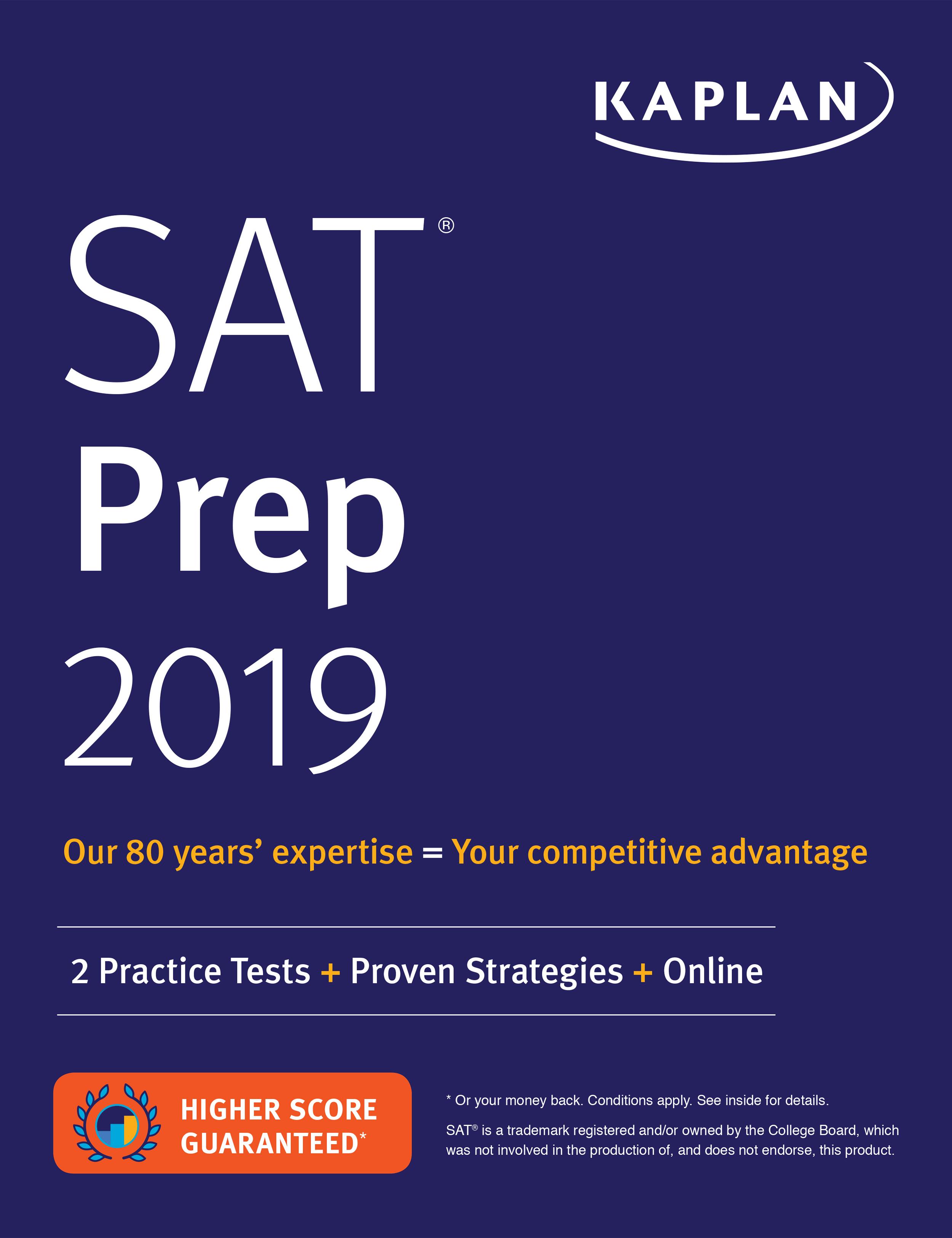 Sat prep book 2018 sat study book bestseller kaplan test prep sat prep 2019 kaplan test prep fandeluxe Images