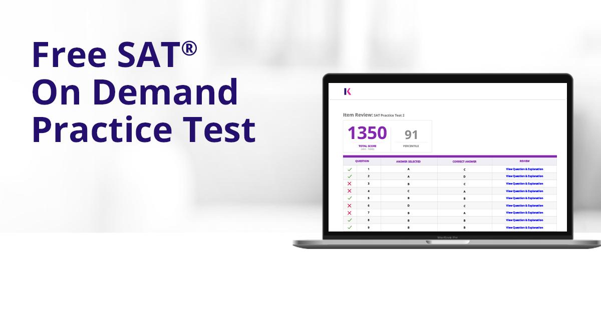 Online Free SAT Practice Test   Kaplan Test Prep