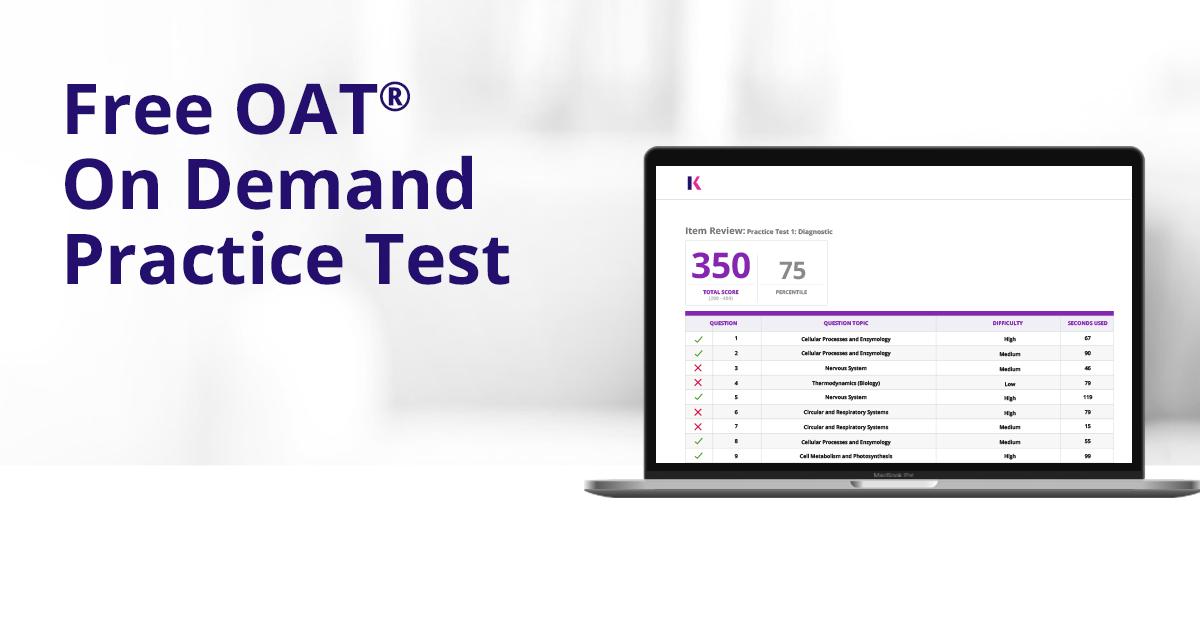 Online Free OAT Practice Test - Full Length