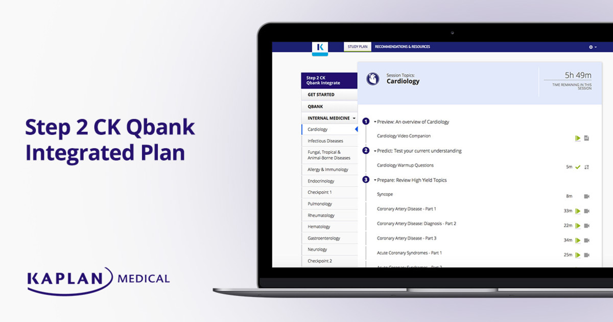 USMLE Step 2 CK Qbank Integrated Plan - Free Trial | Kaplan Test Prep