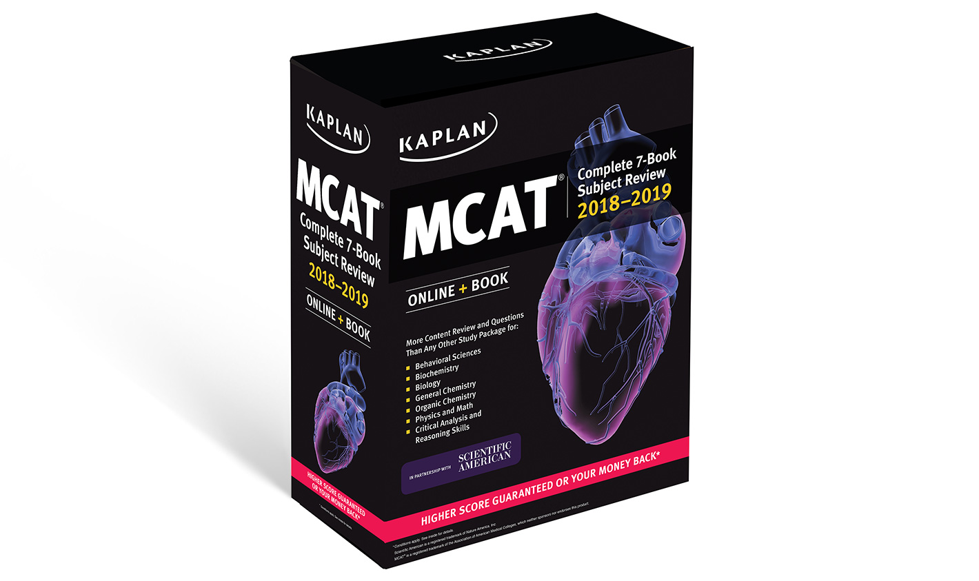 Mcat books kaplan test prep mcat complete 7 book subject review 2018 2019 fandeluxe Image collections